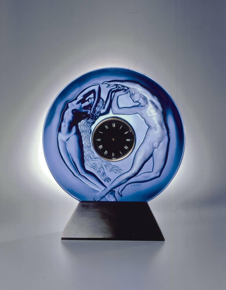 """Musée Lalique - Portaluhr """"Der Tag und die Nacht"""" von 1926"""