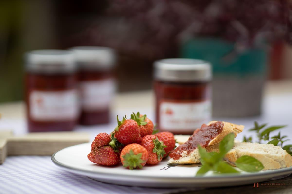 Marmelade Einfach Schnell immer gut Erdbeermarmelade Rezept Anleitung Kloster Hornbach