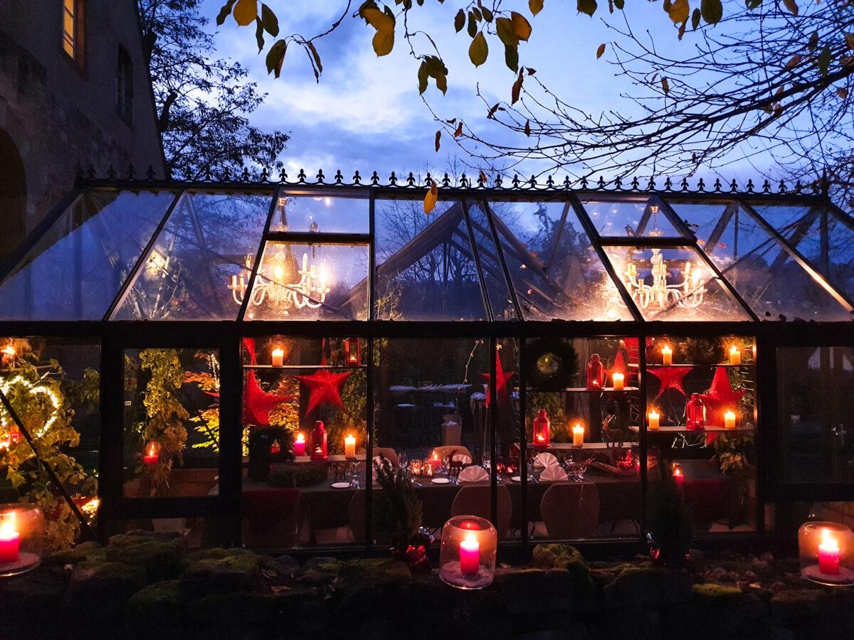 Hotel Kloster Hornbach, bei Zweibrücken, romantisch feiern im Gewächshaus, draußen, mit Abstand, Eventlocation, Rheinland-Pfalz