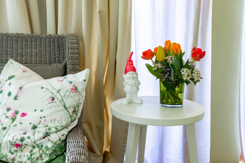 Wohnen mit Gartenzwerg in der Gartensuite des LÖSCH für Freunde