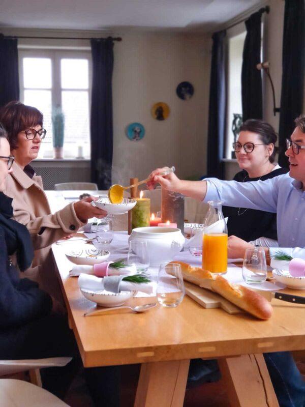 Karotten-Ingwer-Suppe aus dem Kloster Hornbach von Küchenchef Martin Optiz