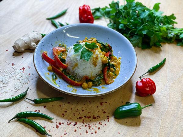 Veganes Kichererbsen Curry
